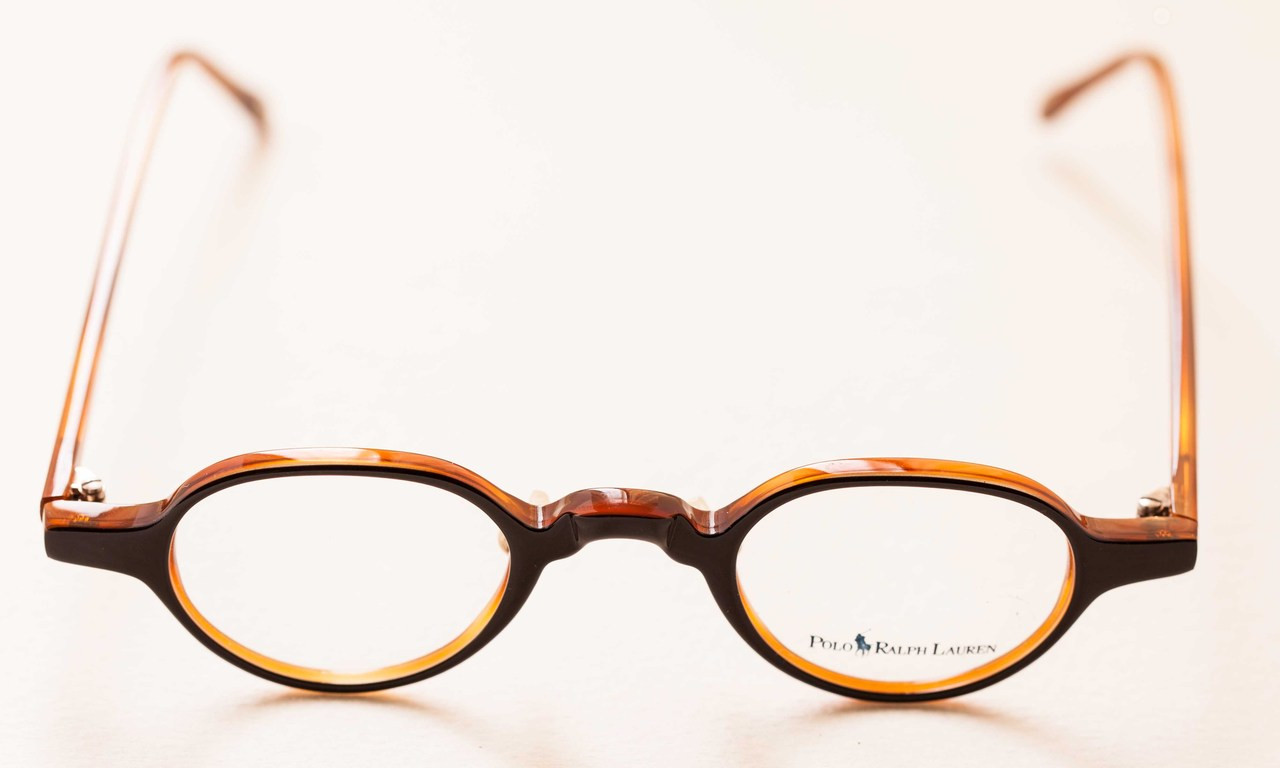 a9ef41d8d8 Black and Tortoiseshell Colour Acrylic Polo Ralph Lauren 403 Small Round  Style Spectacles