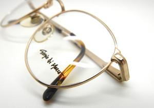 Vintage Giorgio Di Marco Panto Shaped Designer Gold Prescription Eyewear
