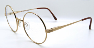 elasta Gold vintage round prescription glasses