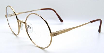 elasta Gold vintage round prescription glasses