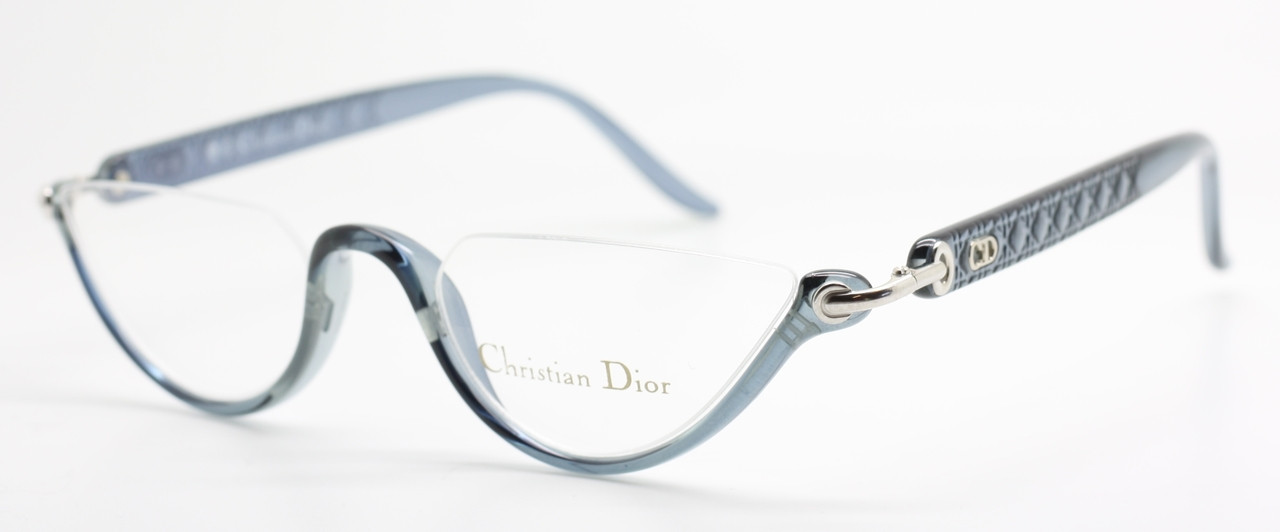 49fca50b38c Christian Dior 3021 Classic Vintage Glasses Half Rim Reading Style In A  Grey Blue   Silver Finish