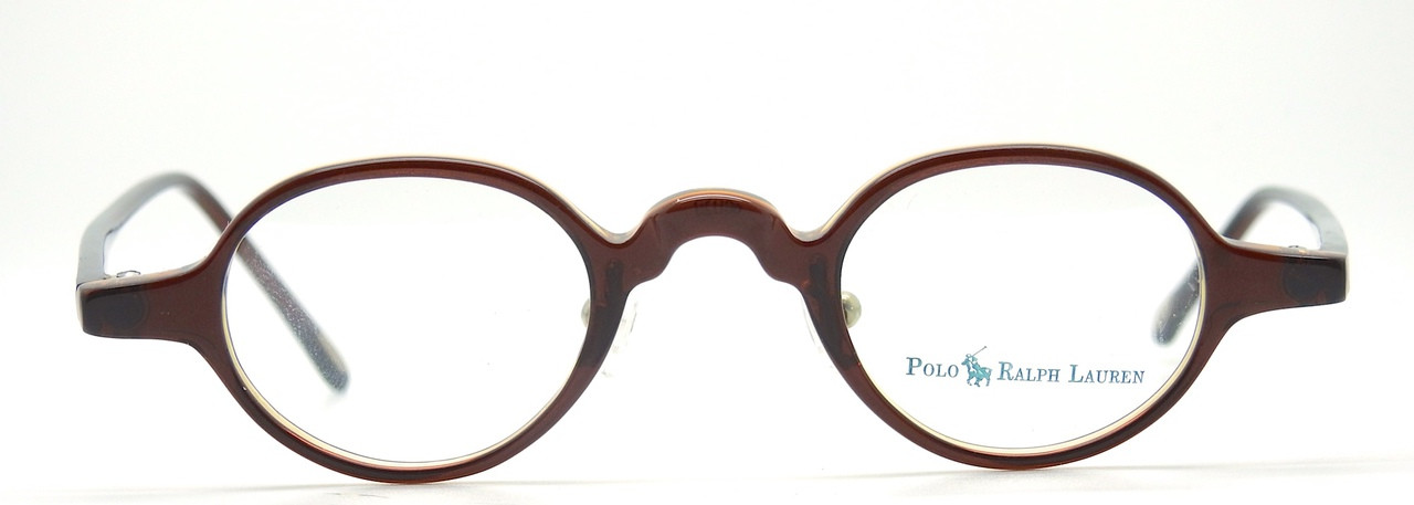 082f056b2b Polo Ralph Lauren 403 0W8A Small Round Style Brown Acrylic Eye Glasses  Frames