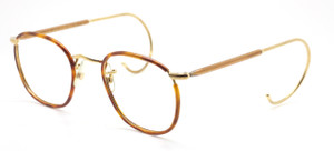 Savile Row Quadra curlsides blond rims from www.theoldglassesshop.co.uk