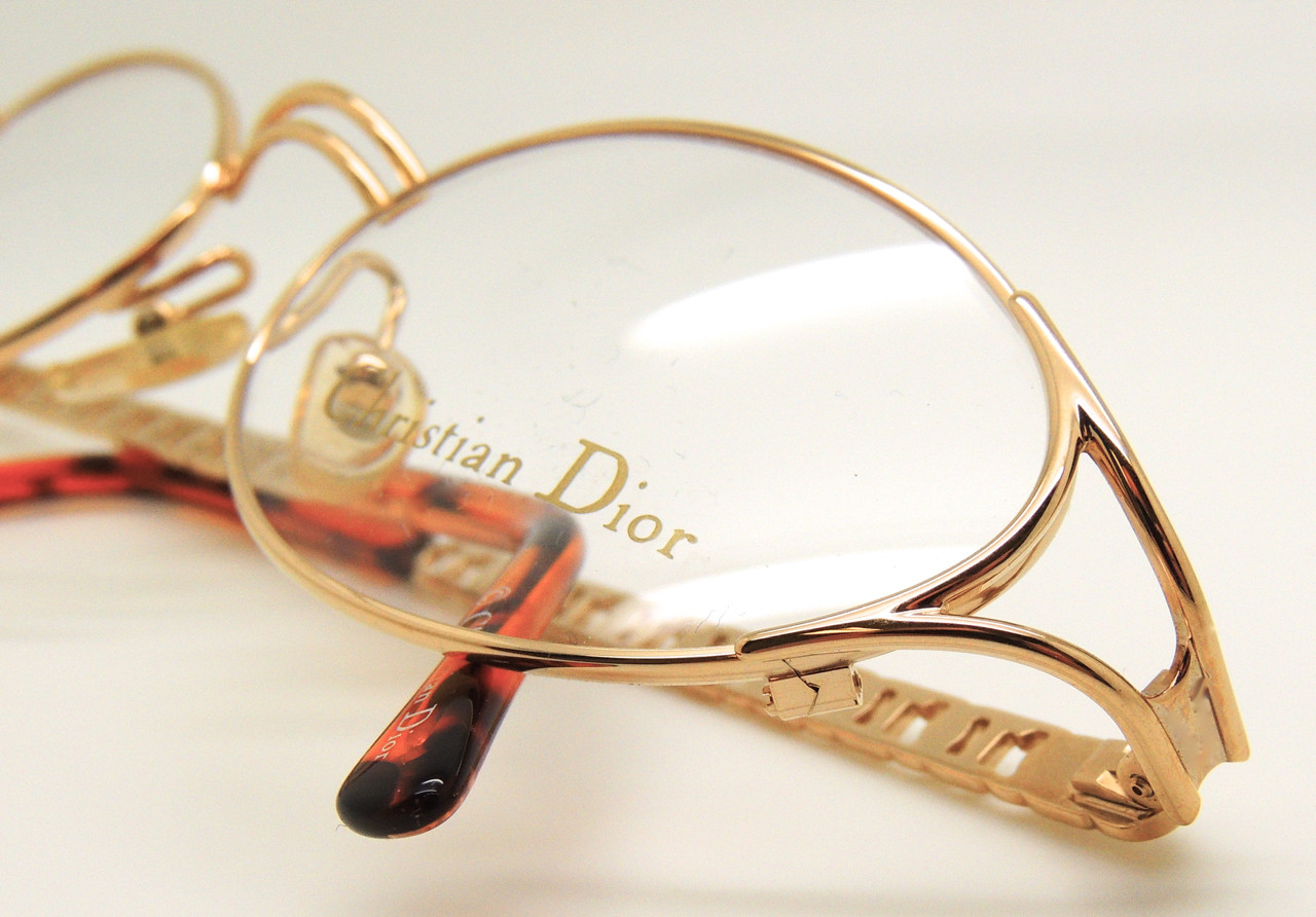 88152ed839 Christian Dior Womens Classic Vintage Metal Glasses Frames 2029 Gold
