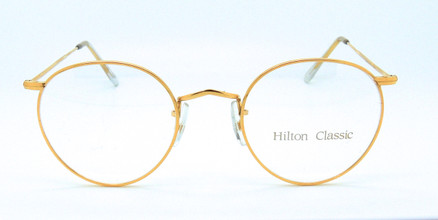 Hilton Panto Shaped 49mm 14kt Rolled Gold Eyewear At The Old Glasses Shop