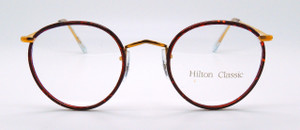 1kk rolled gold classic panto eyeglasses with Chestnut rims from www.theoldglassesshop.com
