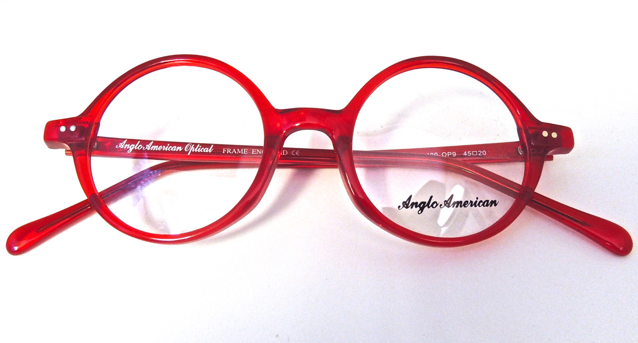 bbfe87a6b5 Anglo American 400 OP9 Prescription Glasses in Classic Round Red