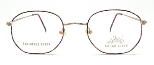 Gold and multi coloured frame by Welling Eyewear