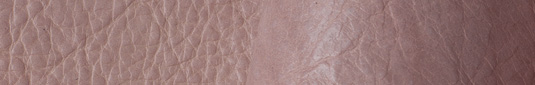 Powder Pink colored buffalo leather hides and sides