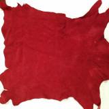 Goatskin Red Suede