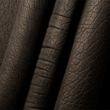 Ute black American Buffalo leather (Bison leather) sides