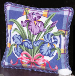 Iris on Plaid