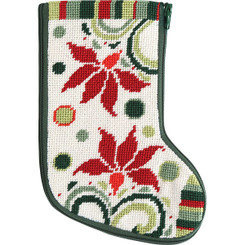 Modern Poinsettia Mini Stocking