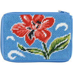 Red Floral Coin Purse