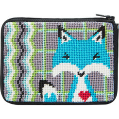 Blue Fox Coin Purse