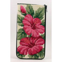 Hibiscus Eyeglass Case