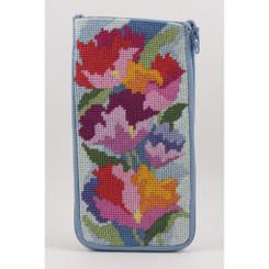 Watercolor Poppies Eyeglass Case