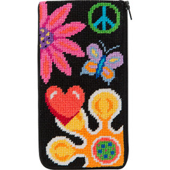 Fun Floral Eyeglass Case