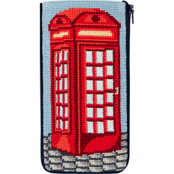 English Phone Booth Eyeglass Case