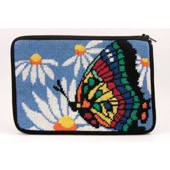 Butterfly and Daisies Purse