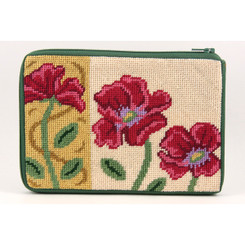 Red Poppies - Gold Purse