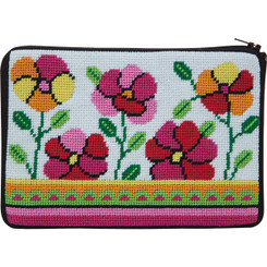 Pink & Orange Poppies Purse