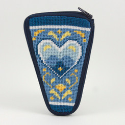 Blue & White Hearts Scissor Case