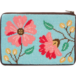 Pink Flowers Purse