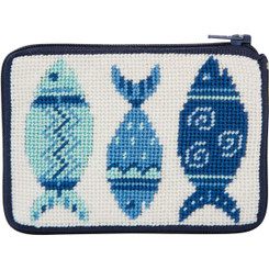 Blue Fishes Coin Purse