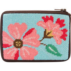 Pink Flowers Coin Purse