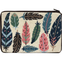SZ634 Feathers Cosmetic Purse