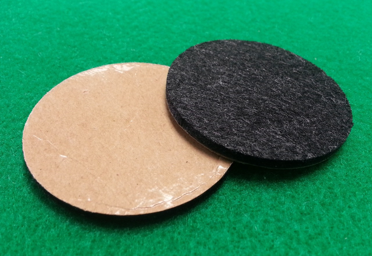 """2"""" Diameter Adhesive Backed Floor Protection Pads - 1/8 ..."""