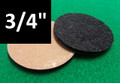 "3/4"" Diameter Adhesive Backed Floor Protection Pads - 1/8"" Thick"