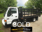 14 Foot Stake Body Truck GMC W3500 used for sale