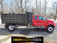 2004 Ford F-650 Crew Cab Single Axle 12ft Dump Truck Automatic, in very good condition.