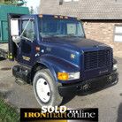 1999 International 4700 Single Axle Flatbed Truck