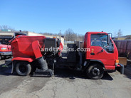 2001 Isuzu NPR with Tymco 210 Sweeper used for sale