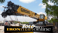 Grove RT600E 50-Ton Rough Terrain Crane, in very good condition.