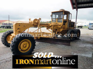 1966 CAT 120 Motor Grader, with front scarifier.