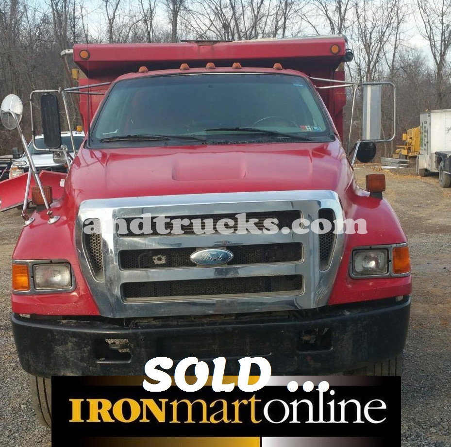 Used Dump Trucks For Sale In Md >> 2004 F 750 Single Axle Ford Dump Truck