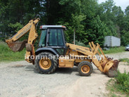 1996 Case 580 super L backhoe loader with forks