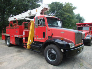 2000 Peterbilt 14 Ton Crane Truck 57' Boom RO Stinger used for sale