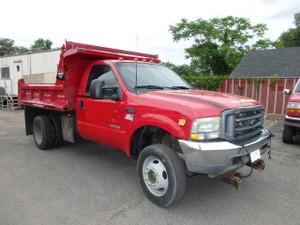 2002 Ford F-550 Mason Dump Truck 4x4 7.3 Turbo Central Hydraulics