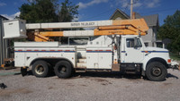 1995 International 4900 Simon Telelect Material Handler Bucket Truck