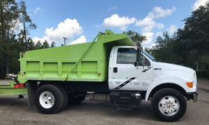 2000 Ford F750 Super Duty Single Axle Dump Truck