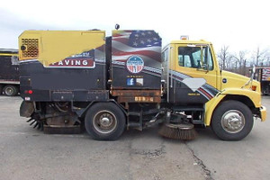 Used 2003 Freightliner FL 70  with Schwarze 6000 Sweeper