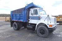 International 8100 single axle dump truck