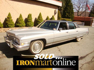 1973 Cadillac Fleetwood, well-maintained, and its body, engine and interior have been kept in excellent condition.