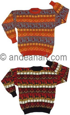 """Alpacas and Colors"" Alpaca Sweater - 11261728"