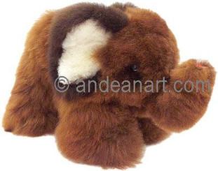 """Alpaca Fur Elephant 6.5"""" - Assorted Color - 15951603"""